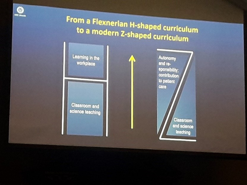 H shaped to J shaped curriculum